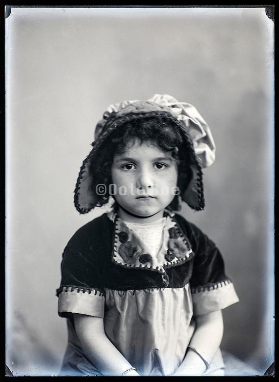unhappy girl portrait France ca 1920s