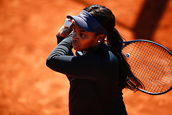May 3, 2019 - Madrid, MADRID, SPAIN - Sloane Stephens of USA during the Mutua Madrid Open 2019 (ATP Masters 1000 and WTA Premier) tenis tournament at Caja Magica in Madrid, Spain, on April 28, 2019. (Credit Image: © AFP7 via ZUMA Wire)