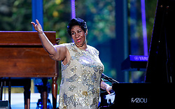 Aretha Franklin waves after her performance at the International Jazz Day Concert on the South Lawn of the White House, in Washington, DC, USA, April 29, 2016. Photo by Aude Guerrucci/Pool/ABACAPRESS.COM
