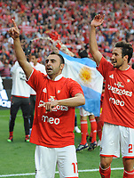 20100509: LISBON, PORTUGAL - SL Benfica vs Rio Ave: Portuguese League 2009/2010, 30th round. In picture:  Carlos Martins and Cesar Peixoto. PHOTO: Alvaro Isidoro/CITYFILES