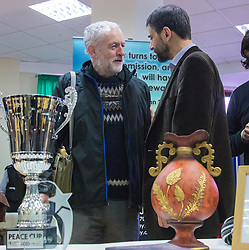 "Finsbury Park Mosque, London, February 7th 2016. Labour Leader and local MP Jeremy Corbyn meets members of the local community and mosque leaders as part of a Visit My Mosque initiative by the Muslim Council of Britain to show non-Muslims ""how Muslims connect to God, connect to communities and to neighbours around them"".<br /> . ///FOR LICENCING CONTACT: paul@pauldaveycreative.co.uk TEL:+44 (0) 7966 016 296 or +44 (0) 20 8969 6875. ©2015 Paul R Davey. All rights reserved."
