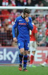 Rochdale's Thomas Kennedy cuts a dejected figure - Photo mandatory by-line: Dougie Allward/JMP - Mobile: 07966 386802 - 28/02/2015 - SPORT - football - Bristol - Ashton Gate - Bristol City v Rochdale AFC - Sky Bet League One