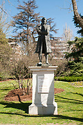 Statue of Eugenio Espejo,  Parque Del Oeste, Madrid, Spain