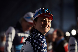 Ruth Winder (USA) makes her way to sign on at the 2020 Omloop Het Nieuwsblad - Elite Women, a 122.9 km road race from Gent to Ninove, Belgium on February 29, 2020. Photo by Sean Robinson/velofocus.com