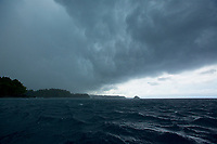 Storm clouds over Coiba National Park