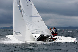 International Dragon Class Edinburgh Cup 2015.<br /> <br /> The first days racing in a strong southerly.<br /> <br /> GBR789, BEAR, Martin Payne, Salcombe YC<br /> <br /> <br /> Credit Marc Turner