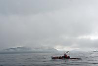Cloudy waetehr in Bremsnesfjorden by Kristiansund..