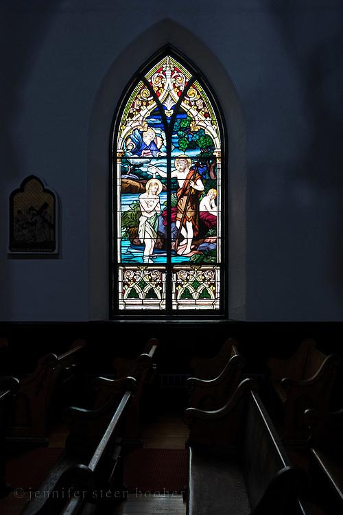 Window 9 on plan. <br /> Holy Redeemer Catholic Church, Bar Harbor, Maine.