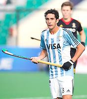 NEW DELHI - Argentijnse captain Lucas Rey  tijdens de  poulewedstrijd in de finaleronde van de Hockey World League tussen de mannen van Argentinie en Belgie. Foto  KOEN SUYK