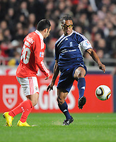 20100125: LISBON, PORTUGAL - 7th Charity Football Match against Poverty: SL Benfica All Stars vs Zidane & Kaka Friends. All the money rose from ticket sales and donations will go to the victims of Haiti Earthquake. In picture: Miccoli and Edgar Davids. PHOTO: Alexandre Pona/CITYFILES