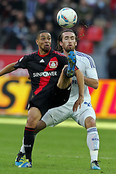 23.10.2011,  BayArena, Leverkusen, GER, 1.FBL, Bayer 04 Leverkusen vs Schalke 04, im Bild.Sidney Sam (Leverkusen #18) gegen Christian Fuchs (Schalke #23)..// during the 1.FBL, Bayer Leverkusen vs Schalke 04 on 2011/10/23, BayArena, Leverkusen, Germany. EXPA Pictures © 2011, PhotoCredit: EXPA/ nph/  Mueller       ****** out of GER / CRO  / BEL ******