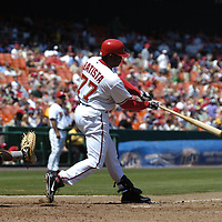 01 June 2007:  Washington Nationals pinch hitter Tony Batista (77) in action against the Pittsburgh Pirates.  The Pirates defeated the Nationals 3-2 at RFK Stadium in Washington, D.C.  ****For Editorial Use Only****