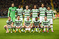02/10/14 UEFA EUROPA LEAGUE<br /> CELTIC v GNK DINAMO ZAGREB<br /> CELTIC PARK - GLASGOW<br /> Celtic Team Picture. <br /> Back Row (L-R) Craig Gordon, Efe Ambrose, Anthony Stokes, Jason Denayer, Virgil Van Dijk and Emilio Izaguirre.<br /> Front Row (L-R) Stefan Johansen, Alexandar Tonev, Scott Brown, Mubarak Wakaso and Kris Commons.