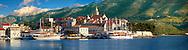 charter cruise boats in the harbour of Korcula town  [  Korcula ] Island Craotia Korčula town  ( Korcula] harbour  Craotia
