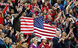 USA Fans in the stands show their support