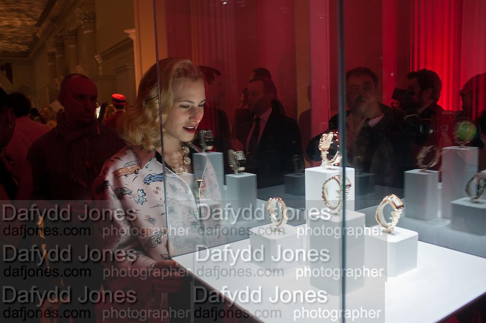 CHARLOTTE DELLAL, Cartier Tank Anglaise launch. Kensington Palace Orangery, London.  19 April 2012.