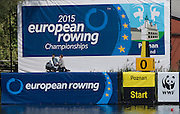 Poznan. Poland. Event signs and posters.FISA 2015 European Rowing Championships. Venue Lake Malta. 29.05.2015. [Mandatory Credit: Peter Spurrier/Intersport-images.com]