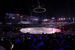 A general view during the Opening Ceremony of the PyeongChang 2018 Winter Olympic Games at the PyeongChang Olympic Stadium in South Korea.