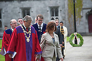 12/07/2015   repro free The National Day of Commmeoration Ceremony was held in NUI, Galway in honour of all those who irish mean nd women who died in past wars or on service with the UN . Mayor of Galway Cllr Frank Fahy led out the City Council.<br /> Photo:Andrew Downes:XPOSURE