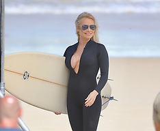 Pamela Anderson films Ultra Tune TV Ad on Gold Coast - 26 Nov 2019