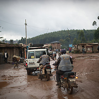 Most roads in Congo DRC aren't paved, like this one in Butembo, North Kivu, hindering access for health programmes.