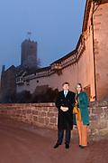Werkbezoek van Zijne Majesteit de Koning, vergezeld door Hare Majesteit Koningin Maxima aan de Duitse deelstaten Thüringen, Saksen en Saksen-Anhalt<br /> <br /> Working visit of His Majesty the King, accompanied by Her Majesty Queen Maxima in the German states of Thuringia, Saxony and Saxony-Anhalt<br /> <br /> op de foto / On the Photo:  Koning Willem Alexander en koningin Maxima brengen een bezoek aan Kasteel de Wartburg<br /> <br /> King Willem Alexander and Queen Maxima visit the Wartburg Castle