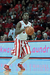 15 February 2014:  Daishon Knight during an NCAA Missouri Valley Conference (MVC) mens basketball game between the Bradley Braves and the Illinois State Redbirds  in Redbird Arena, Normal IL.