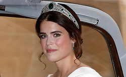 Princess Eugenie arrives for her wedding to Jack Brooksbank at St George's Chapel, Windsor Castle.
