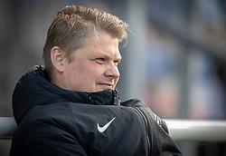 Sportschef Rasmus Brandhof (Skive IK) under kampen i 1. Division mellem FC Helsingør og Skive IK den 18. oktober 2020 på Helsingør Stadion (Foto: Claus Birch).