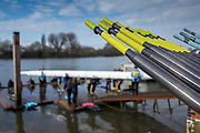 Hammersmith. London. United Kingdom,  Hammersmith. London.  General View crews boating from Furnivall SC, 2018 Men's Head of the River Race.  Championship Course, River Thames, 2018 Men's Head of the River Race. , Championship Course, Putney to Mortlake. River Thames, <br /> <br /> Sunday   11/03/2018<br /> <br /> [Mandatory Credit:Peter SPURRIER Intersport Images]<br /> <br /> LEICA CAMERA AG  LEICA Q (Typ 116)  1/16000 sec. 28 mm f.1.7 200 ISO.  42.0MB