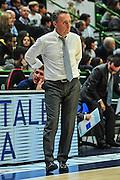 DESCRIZIONE : Campionato 2014/15 Dinamo Banco di Sardegna Sassari - Enel Brindisi<br /> GIOCATORE : Piero Bucchi<br /> CATEGORIA : Allenatore Coach<br /> SQUADRA : Enel Brindisi<br /> EVENTO : LegaBasket Serie A Beko 2014/2015<br /> GARA : Dinamo Banco di Sardegna Sassari - Enel Brindisi<br /> DATA : 27/10/2014<br /> SPORT : Pallacanestro <br /> AUTORE : Agenzia Ciamillo-Castoria / M.Turrini<br /> Galleria : LegaBasket Serie A Beko 2014/2015<br /> Fotonotizia : Campionato 2014/15 Dinamo Banco di Sardegna Sassari - Enel Brindisi<br /> Predefinita :