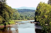Passumpsic River joins Connecticut River, East Barnet, VT