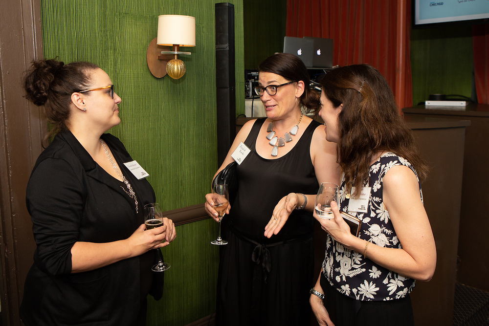 Claudia Karach, Rosalind Bordo and Siobhan Flaherty Haber at the kick-off event for the James Beard Foundation's Taste America®'s 10-city national event, held August 1, 2018 at the James Beard House in New York City. <br /> <br /> CREDIT: Clay Williams for The James Beard Foundation.<br /> <br /> © Clay Williams / http://claywilliamsphoto.com