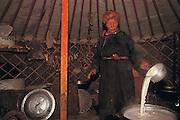 Making Kerd<br /> inside traditional ger<br /> Mongolia
