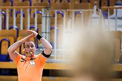 Referee Silvo Kosir during handball match between RK Olimpija and ZRK Krka Novo Mesto in Round #10 of National Youth League in Season 2020-21, on May 2, 2021 in Hala Tivoli, Ljubljana, Slovenia. Photo by Matic Klansek Velej / Sportida