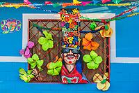 Barranquilla , Colombia  - February 25, 2017 : house decorated designed for the carnival festival of  Barranquilla Atlantico Colombia