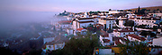 PORTUGAL, CENTRAL AREA, OBIDOS ancient, medieval, walled town with castle (now Pousada/hotel) one of Portugal's most picturesque towns