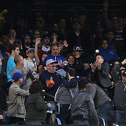 NEW YORK, NEW YORK - MAY 02:  Fans tussle for a home run ball off the bat of David Wright #5 of the New York Mets in the first inning during the Atlanta Braves Vs New York Mets MLB regular season game at Citi Field on May 02, 2016 in New York City. (Photo by Tim Clayton/Corbis via Getty Images)