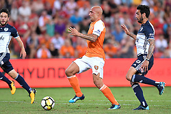 December 17, 2017 - Brisbane, QUEENSLAND, AUSTRALIA - Massimo Maccarone of the Roar (9) in action during the round eleven Hyundai A-League match between the Brisbane Roar and the Melbourne Victory at Suncorp Stadium on Sunday, December 17, 2017 in Brisbane, Australia. (Credit Image: © Albert Perez via ZUMA Wire)
