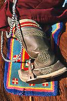 Mongolie. Détails d'une botte mongole. // Mongolia. Details of a mongolian boot.
