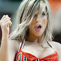 04 May 2011: Luvabulls dancer Kristina performs during the Chicago Bulls 86-73 victory over the Atlanta Hawks, during game 2 of the Eastern Conference semi finals at the United Center, Chicago, Illinois, USA.