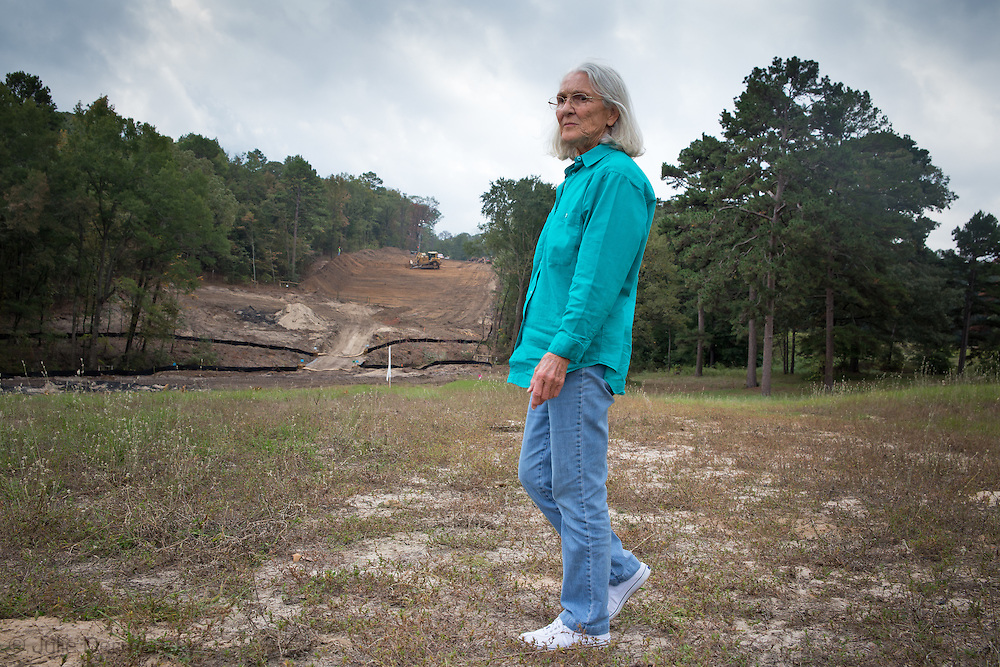 October 15th Winnsboro Texas, Eleanor Fairchild near the easement  that TransCanada condemend via eminent domain laws and began construction of the Keysotne XL's southern route on her land by clearing the land. Eleanor opposes the Keystone Pipeline because it will transport Tar Sands, not crude oil, across her land , as she was oringaly told.