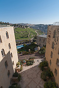 Mount Zion Hotel in the German Colony in Jerusalem, Israel Founded by the German Templer movement who settled here and elsewhere in Israel in the late 19th century