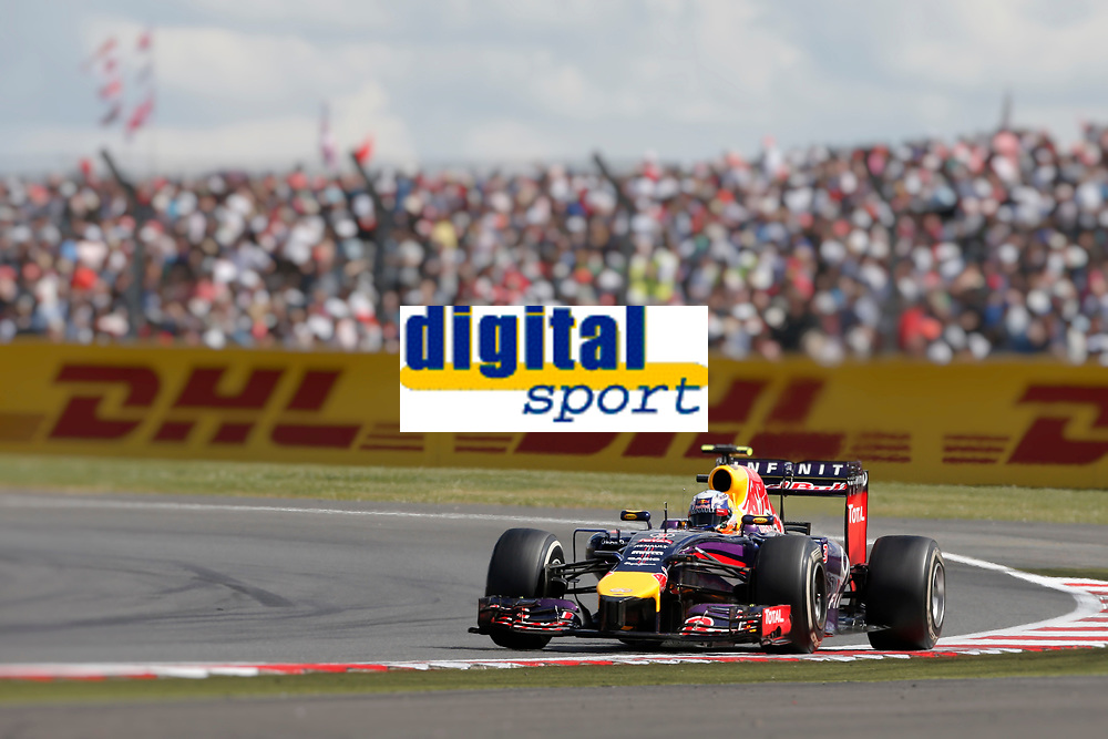 RICCIARDO Daniel (Aus) Red Bull Renault Rb10 Action  during the 2014 Formula One World Championship, Grand Prix of Great Britain from july 3 to 6th 2014, in Silverstone, United Kingdom. Photo Francois Flamand / DPPI