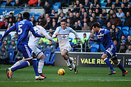 Jack Grealish of Aston Villa has a run during the EFL Sky Bet Championship match between Cardiff City and Aston Villa at the Cardiff City Stadium, Cardiff, Wales on 2 January 2017. Photo by Andrew Lewis.