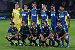 Players of NK Maribor during Play-offs for Champions League between NK Maribor (Slovenia) and GNK Dinamo Zagreb (Croatia), on August 28, 2012, in Maribor, Slovenia. (Photo by Matic Klansek Velej / Sportida.com)