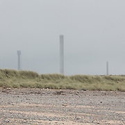 Sellafield nuclear site from the beach, Cumbria.