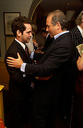 Tom Hollander and Charles Finch. Artists Independent Networks  Pre-BAFTA Party at Annabel's co hosted by Charles Finch and Chanel. Berkeley Sq. London. 11 February 2005. . ONE TIME USE ONLY - DO NOT ARCHIVE  © Copyright Photograph by Dafydd Jones 66 Stockwell Park Rd. London SW9 0DA Tel 020 7733 0108 www.dafjones.com