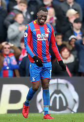 Crystal Palace's Christian Benteke reacts after missing a chance on goal during the Premier League match at Selhurst Park, London.