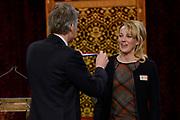 Officiele Huldiging van de Olympische medaillewinnaars Sochi 2014 / Official Ceremony of the Sochi 2014 Olympic medalists.<br /> <br /> Op de foto:  Marianne Timmer